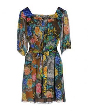 Короткое платье MANUEL LUCIANO. Цвет: серый