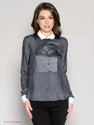 Блузка 18CRR81 CERRUTI. Цвет: серый, молочный