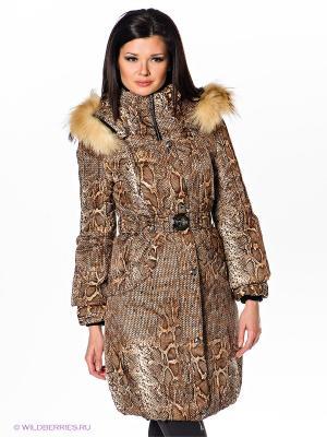 Пальто Alisa Line. Цвет: коричневый