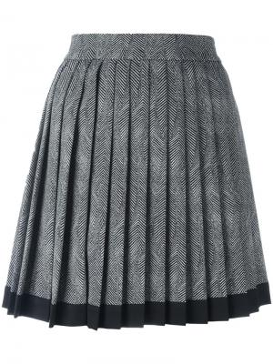 Плиссированная мини юбка Versace. Цвет: чёрный