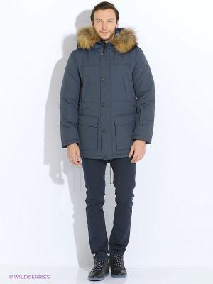 Пальто Finn Flare. Цвет: серый