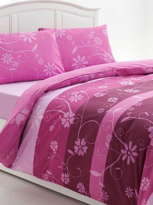 Комплект постельного белья OZDILEK. Цвет: розовый, бледно-розовый