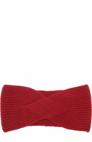 Вязаная повязка из кашемира Johnstons Of Elgin. Цвет: бордовый