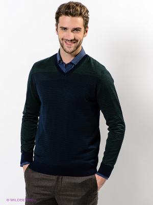 Пуловер Giovane Gentile. Цвет: темно-синий, зеленый, фиолетовый