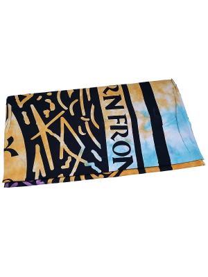 Покрывало декоративное набивное ETHNIC CHIC. Цвет: черный, голубой, оранжевый