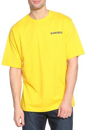 Футболка Valentino Rossi. Цвет: желтый