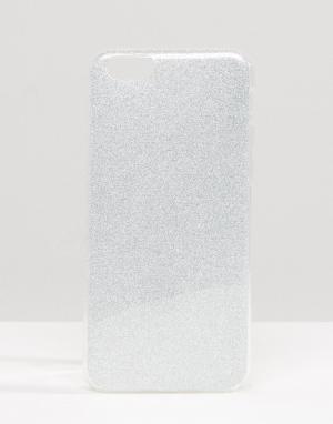 SIGNATURE Чехол с блестками для iPhone 6. Цвет: серебряный