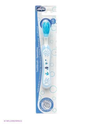Зубная щетка CHICCO. Цвет: голубой