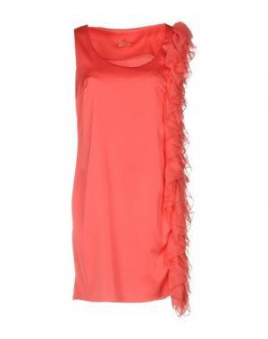 Короткое платье MACRÍ. Цвет: коралловый
