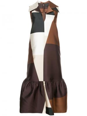 Geometric print dress Co. Цвет: коричневый