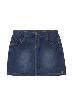 Юбка джинсовая Z Generation. Цвет: синий