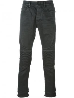 Байкерские джинсы кроя слим Marcelo Burlon County Of Milan. Цвет: чёрный