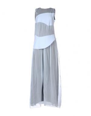 Длинное платье MARTA MARTINO. Цвет: небесно-голубой