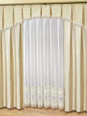 Комплект штор для гостиной Haft. Цвет: светло-серый