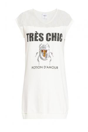 Платье-толстовка из хлопка 160490 Anna Rita N. Цвет: белый
