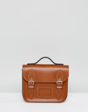 Leather Satchel Company Маленький рюкзак. Цвет: рыжий