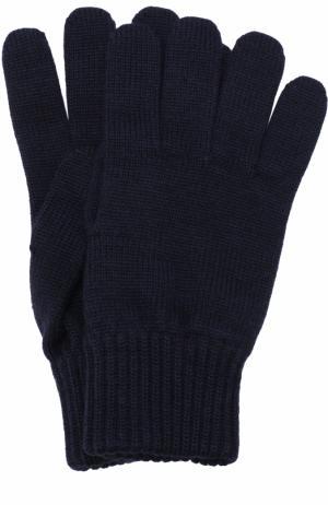 Шерстяные перчатки TSUM Collection. Цвет: темно-синий