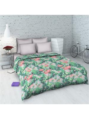 Комплект постельного белья из бязи Евро Василиса. Цвет: серый, розовый