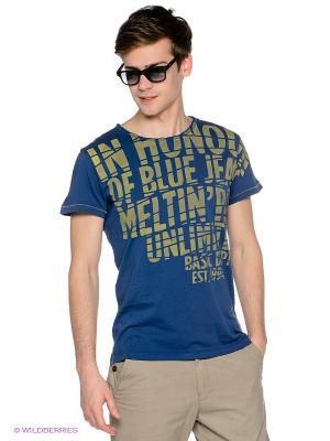 Футболка Meltin'Pot. Цвет: синий