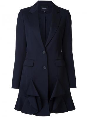 Пиджак с застежкой на две пуговицы Goen.J. Цвет: синий