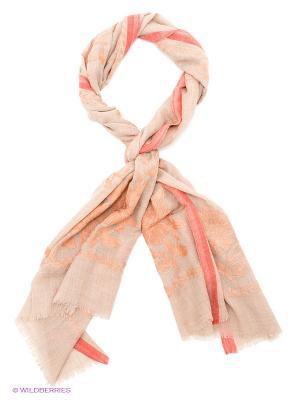 Палантин Venera. Цвет: бежевый, оранжевый