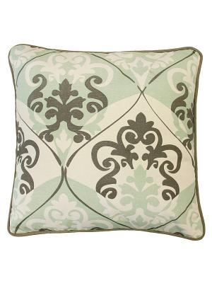 Подушка декоративная Naturel. Цвет: бежевый, зеленый
