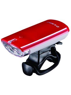 Фара с тремя белыми светодиодами D-light. Цвет: красный