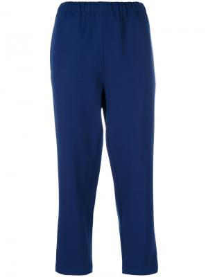 Укороченные брюки строгого кроя Marni. Цвет: синий