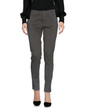 Повседневные брюки DIRTYPAGE. Цвет: зеленый-милитари