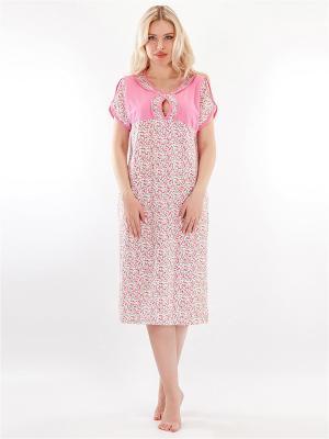 Ночная сорочка HELLO MODA!. Цвет: розовый