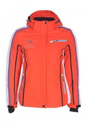Куртка горнолыжная Fun Rocket. Цвет: оранжевый