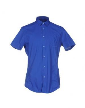 Pубашка BIKKEMBERGS. Цвет: ярко-синий