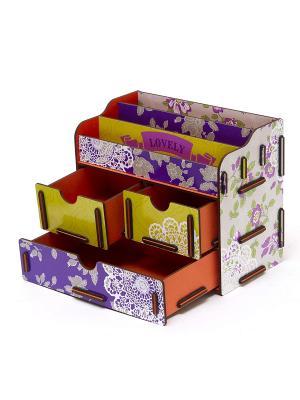 Органайзер для косметики и украшений 3 Homsu. Цвет: фиолетовый