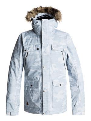 Куртка сноубордическая Quiksilver. Цвет: белый, бирюзовый, синий