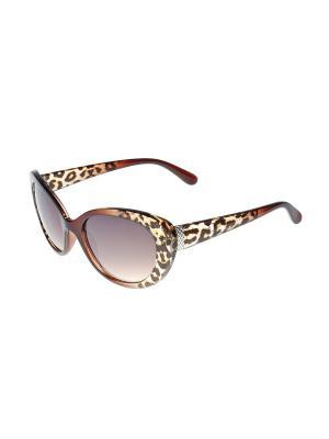 Солнцезащитные очки Gusachi. Цвет: коричневый