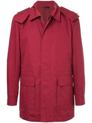 Пальто на молнии Gieves & Hawkes. Цвет: красный