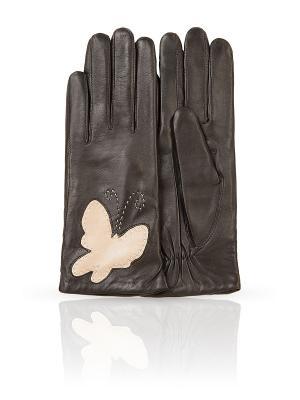 Перчатки Dali Exclusive. Цвет: коричневый, белый