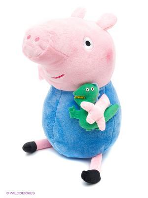 Мягкая игрушка Джордж с динозав, 40см Peppa Pig. Цвет: розовый, зеленый, синий