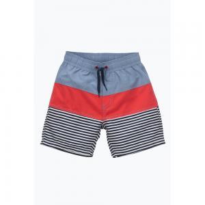 Плавки-шорты ELLOS. Цвет: в полоску синий/ красный,наб. рисунок зеленый