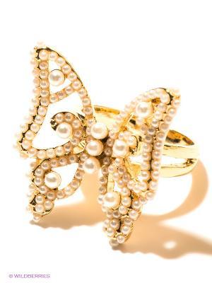Кольцо Infiniti. Цвет: золотистый, молочный