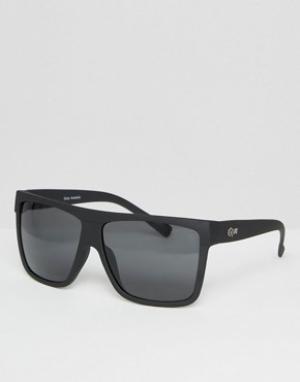 Quay Australia Солнцезащитные oversize‑очки Barnun. Цвет: черный