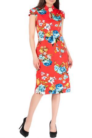 Платье Mannon. Цвет: молочно-красный