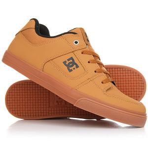 Кроссовки DC Pure Shoe Wheat Shoes. Цвет: светло-коричневый