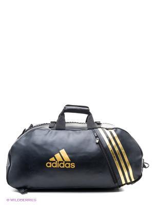 Сумка спортивная Super Sport Bag Karate L Adidas. Цвет: черный, золотистый