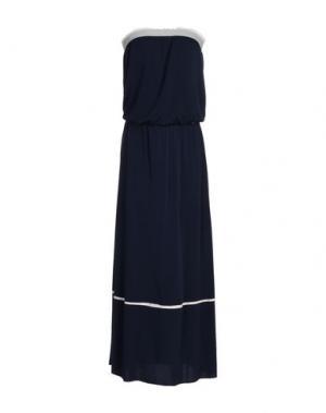 Длинное платье CAFèNOIR. Цвет: синий