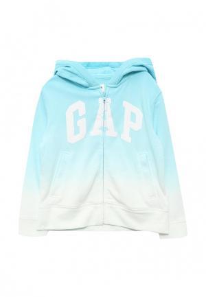 Толстовка Gap. Цвет: бирюзовый