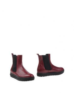 Полусапоги и высокие ботинки SI by SINELA. Цвет: красно-коричневый