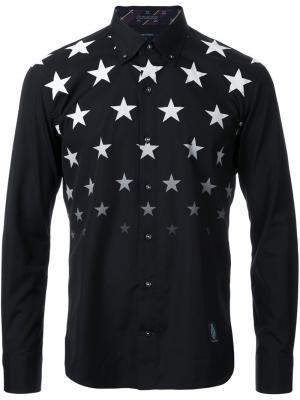 Рубашка с принтом звезд Guild Prime. Цвет: чёрный