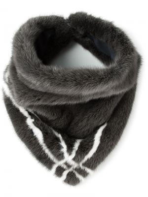 Меховой шарф Inès & Maréchal. Цвет: серый