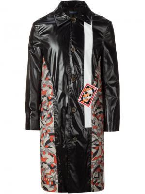 Пальто с контрастными вставками Devon Halfnight Leflufy. Цвет: чёрный